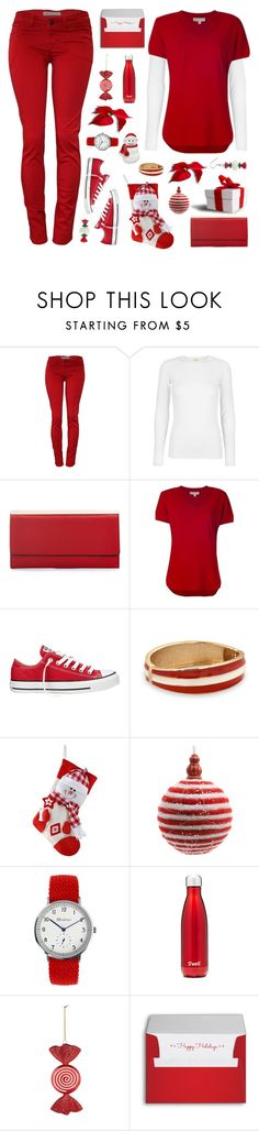 """""""Untitled #1754"""" by tinkertot ❤ liked on Polyvore featuring MICHAEL Michael Kors, Converse, BillyTheTree, Decoris and S'well"""