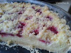 Lenivý tvarohovo-malinový koláč - Recept Ham, Food And Drink, Sugar, Recipes, Cakes, Cake Makers, Hams, Recipies, Kuchen