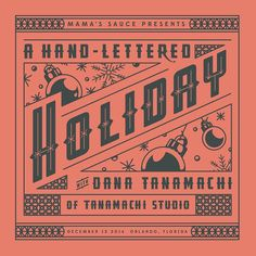 We are so excited to announce that we will be bringing @dana_tanamachi to Orlando on December 12 for A Hand-Lettered Holiday Event. There will be all kinds of holiday cheer (like a Holiday Sauce Roast by @lineagecoffeeroasting) and live printing as we celebrate this semester's Sauce Interns. Mark your calendars and save the date! Time and location to follow soon! Want to signup to be an intern one day in the future? mamas-sauce.com/intern