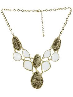 Pave & Cab Stone Statement Necklace. Added to iList Apps Wedding Registry ✔