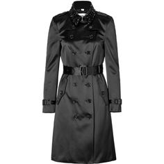BURBERRY LONDON Silk Blend Northbourne Trench = oh please