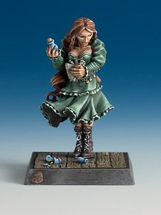 Freebooter Miniatures: Sarah. Awesome mini for an alchemist?