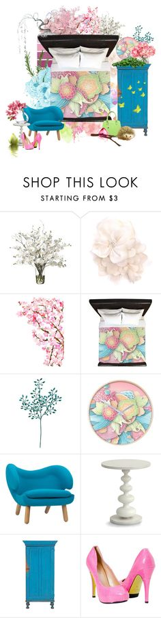 """""""Colorful Flowers Bedroom Set"""" by zandiepants ❤ liked on Polyvore featuring interior, interiors, interior design, home, home decor, interior decorating, Matthew Williamson, Redford House and bedroom"""