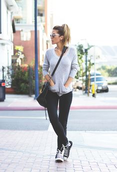 I choose this picture because to me this is everyday causal fashion. She's wearing sneakers, how casual can it get.