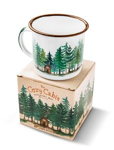 Coffee Cup Art, Pottery Painting Designs, New England Style, Cool Mugs, Cozy Cabin, Cabins In The Woods, Funny Mugs, Coups, Mug Designs