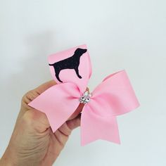 Baby Pink Dog Cheer Bow Baby Mini Bow