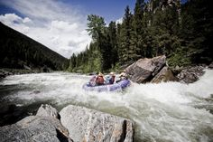 That's Grimace, our favorite purple boat! Photo by Kene Sperry Fly Fishing Lessons, Visit Yellowstone, Whitewater Rafting, Three Rivers, Paradise Valley, Sight & Sound, Horseback Riding, Sperry, Kayaking
