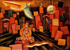 Xul Solar, ''Un Yogui'', 1932, Argentina Smart Art, Leaving Home, Wassily Kandinsky, Cheer Up, Love Art, Painters, Colours, Sculpture, Florida
