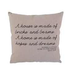personalised hopes and dreams cushion by tillyanna | notonthehighstreet.com