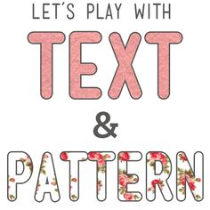 This tutorial will show you how to take any pattern