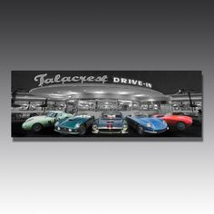 Classic cars take the prime spot in this classic car wall art, and the LED lights mean they make an even bigger impression Luxury Interior Design, Interior Design Inspiration, Games Room Inspiration, Luxury Gifts For Men, Car Wall Art, Interior Lighting, Game Room, Mercury