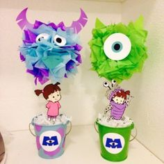 Monsters Inc Decoration Birthday Baby Shower by TutuCuteKreations Monster Inc Party, Monster Birthday Parties, First Birthday Parties, 1st Birthday Themes, Baby First Birthday, Birthday Decorations, Birthday Ideas, Monsters Inc Baby Shower, Monsters Inc Boo
