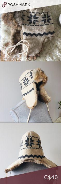 NWT GAP Soft Fleece Pink Stripe pom-pom Winter Trapper Hat Warm Girls 2 3 4 5