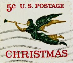 US Christmas stamp 5 cents, cancelled