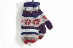 限量一件手織純羊毛針織手套 / 可拆卸手套 - 北歐聖誕氣息 - omhandmade | Pinkoi