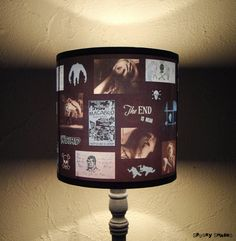 Hey, I found this really awesome Etsy listing at https://www.etsy.com/listing/26180670/blue-horror-lamp-shade-lampshade