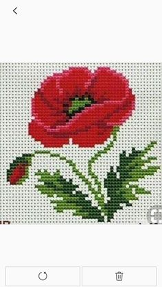 Knitting Charts, Chrochet, Cross Stitch Embroidery, Projects To Try, Fabric, Silk Ribbon Embroidery, Crewel Embroidery, Poppies, Bedspreads