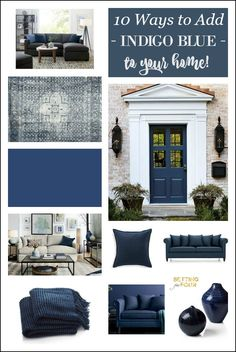 10 amazing ways to add color trend Indigo Blue to your home: 10 Paint color…