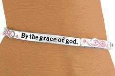 """By+The+Grace+Of+God,+I+Will+Survive.+By+The+Grace+Of+God,+I+Did+Survive,""+Cancer+Awareness+Bracelet"