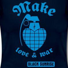 T-shirt Donna MakeLove&War | Black Sunrise eXXXtreme clothing