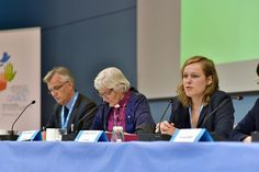 Council officer Anna-Marie Klassen presents during a press conference at the #LWF Council meeting in 2016 - Wittenberg, Germany. #Day165 until the Twelfth Assembly. #Assembly365 Photo: LWF/M. Renaux