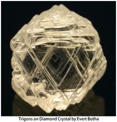 Trigons on diamond crystal - personally, i don't care for Diamonds, but this one I like.