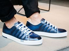 STEP OUT IN STYLE #Berluti #Sneaker #blue #sotd #AcneStudios #Trousers #Jeans