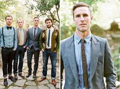 Why It Works Wednesday: Dressed Up Casual Groomsmen | Photograph by Braedon Flynn Photography  http://storyboardwedding.com/why-it-works-wednesday-dressed-up-casual-groomsmen/