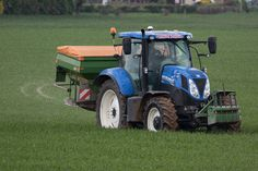 New Holland T7 200 tractor, farming stock images UK