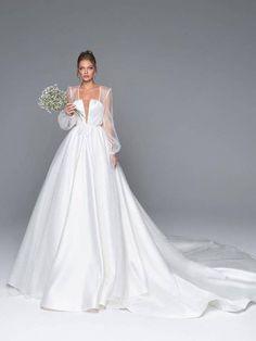 22bf852e13a9 7 Best Empire Line Wedding Dress images | Alon livne wedding dresses ...