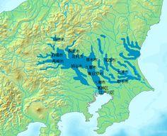 1947 カスリーン台風浸水図 - 利根川 - Wikipedia