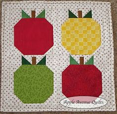 Apple Avenue Quilts: Free 2012 Block of the Monthprintable pattern, fabric needs, instructions