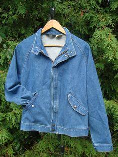 Vintage Wrangler Oversized Denim Jacket 90s 80s by FleecenStuff