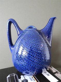Vintage Rare Rorstrand Bla Eld Teapot Coffe Pot by uulipolli:):)