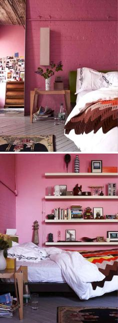 pink bedroom walls - maybe an idea for my pink room?