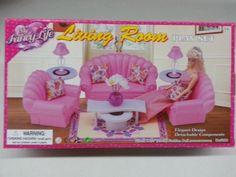 My Fancy Life Living Room Playset Dollhouse Barbie Furniture Toys | eBay