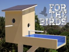 Not for Penguins is raising funds for For the Birds - a modern Birdhouse for stylish birds on Kickstarter! Add creative, unique décor to your home with this hand made Contemporary-Modern style home for birds. Building Bird Houses, Bird Houses Diy, Wooden Bird Feeders, Bird House Feeder, Bird House Plans, Bird House Kits, Modern Birdhouses, Birdhouse Designs, Diy Birdhouse