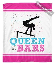 Golly Girls: Queen of the Bars Fleece Blanket only at gollygirls.com