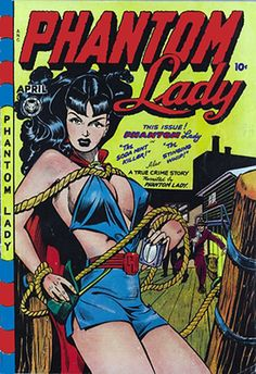 "With the 1948 cover of Phantom Lady artist Matt Baker helped give us comic book fans a code word we've used now for decades: ""headli. Comic Book Artists, Comic Artist, Comic Books Art, Dc Comics, Horror Comics, Crime Comics, Frank Miller, Marvel Girls, Comic Art"