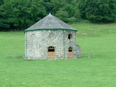 Octagonal Cow Shed  This unusual building is in the grounds of Langedwyn Hall, near to Llangedwyn, Powys, Great Britain