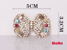 1 Piece Bling Colorful Bow Alloy Bowknot Accessories Stud Charm Kawaii Cabochon Deco Den on Craft Phone Case DIY Deco AA1256