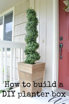 Add instant curb appeal with an easy to build customized wooden planter box for next to nothing. This is a great project for scrap wood or old fence slats!