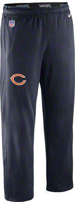 Chicago Bears Navy Nike 2012 Sideline KO Fleece Sweatpants