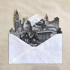 Collage art work by Morgan Jesse Lappin: Air Mail City No. Collage Drawing, Collage Artwork, Collage Illustration, Art Drawings, Collages, City Collage, Collage Design, Surreal Art, Digital Collage