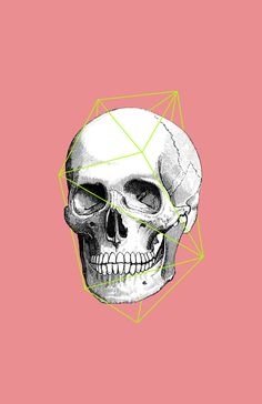 Geometric Skull Art Print by Zeke Tucker