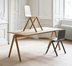 Table and Chair for hay/ designed by Ronan and Erwan Bouroullec