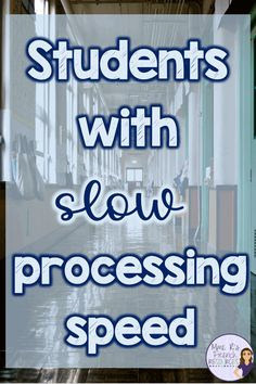 What does slow processing speed look like in the classroom? How can teachers accommodate students who may need more time to complete tasks? Learn about how slow processing speed can affect students and find some ideas for helping slow-working students fin Classroom Behavior, Classroom Management, Classroom Libraries, Behavior Management, Auditory Processing Disorder, Learning Disabilities, Multiple Disabilities, School Psychology, School Counseling