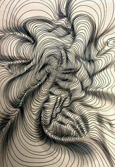 texture line art - texture line ; texture line drawing ; texture line art ; texture line pattern Line Patterns, Textures Patterns, Art Patterns, Op Art, Generative Kunst, Arte Linear, Art Texture, Texture Drawing, Texture Design