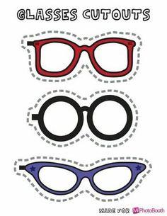 Lentes o gafas recortables para tus fiestas fotos eventos y más