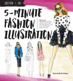 Fashion sketchbook 5th edition bina abling 9781563674471 amazon 5 minute fashion illustration 500 model templates and techniques for live fashion sketching fandeluxe Image collections